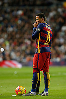 Barcelona´s Neymar Jr during 2015-16 La Liga match between Real Madrid and Barcelona at Santiago Bernabeu stadium in Madrid, Spain. November 21, 2015. (ALTERPHOTOS/Victor Blanco) /NortePhoto