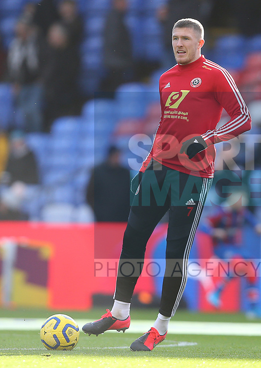 Sheffield United's John Lundstram during the Premier League match at Selhurst Park, London. Picture date: 1st February 2020. Picture credit should read: Paul Terry/Sportimage