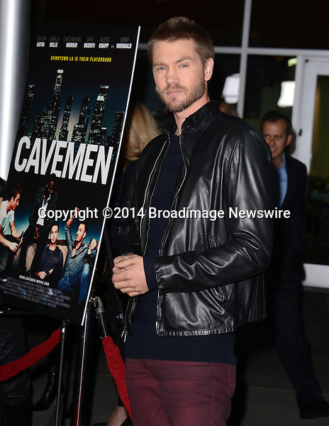 Pictured: Chad Michael Murray<br /> Mandatory Credit: Luiz Martinez / Broadimage<br /> CAVEMAN Los Angeles Premiere<br /> <br /> 2/5/14, Hollywood, California, United States of America<br /> Reference: 020514_LMLA_BDG_071<br /> <br /> sales@broadimage.com<br /> Bus: (310) 301-1027<br /> Fax: (646) 827-9134<br /> http://www.broadimage.com