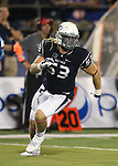 Nevada defender Brock Hekking (53) competes against Boise State during the second half of an NCAA college football game in Reno, Nev., on Saturday, Oct. 4, 2014. Boise State won 51-46. (AP Photo/Cathleen Allison)