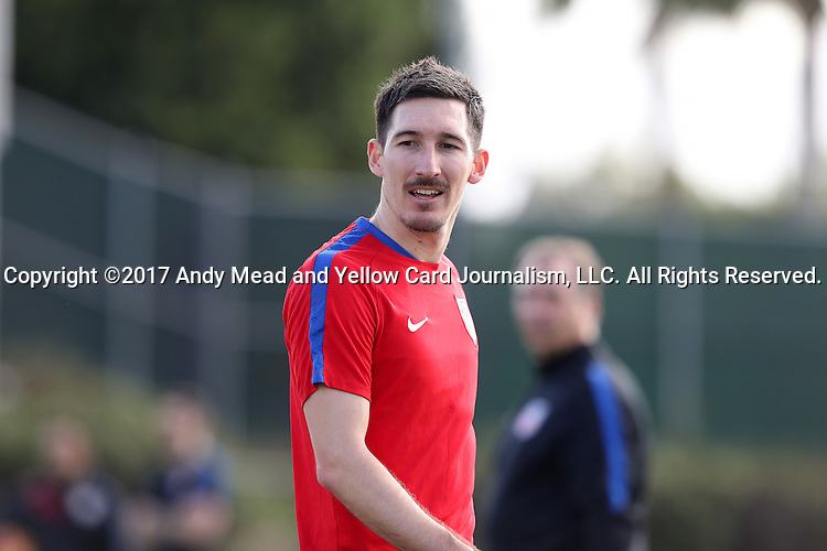 11 January 2017: Sacha Kljestan. The United States Men's National Team held their first training session under new head coach Bruce Arena on The Murphy Family Field at the StubHub Center in Carson, California.