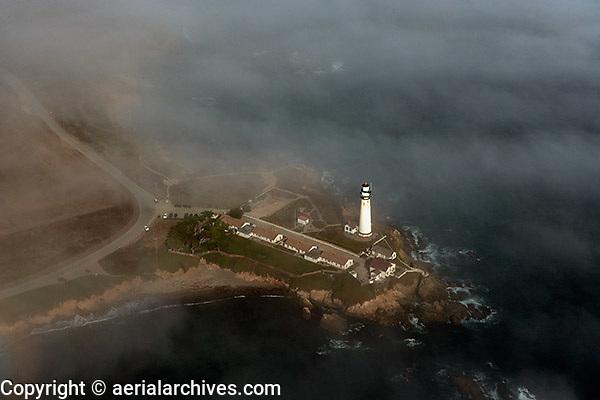 aerial photograph Pescadero Lighthouse San Mateo County, California