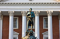 The Rotunda with a statue of Thomas Jefferson at the University of Virginia.