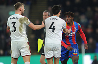 Tempers flair between Burnley's Jack Cork and Crystal Palace's Wilfried Zaha<br /> <br /> Photographer Ashley Crowden/CameraSport<br /> <br /> The Premier League - Crystal Palace v Burnley - Saturday 13th January 2018 - Selhurst Park - London<br /> <br /> World Copyright &copy; 2018 CameraSport. All rights reserved. 43 Linden Ave. Countesthorpe. Leicester. England. LE8 5PG - Tel: +44 (0) 116 277 4147 - admin@camerasport.com - www.camerasport.com