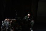 ALEPPO: August 3rd 2012:..From Bab al Hadid, a marksman from the Free Syrian Army looks out to Aleppo's citadel, where Syrian Army snipers are positioned. ..Ayman Oghanna .