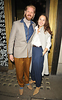 LONDON, ENGLAND - FEBRUARY 13: Alistair Guy and Anna Balint at the Venetian Carnevale celebration launch party, Bocconcino Pizzeria, Berkeley Street, Mayfair on Thursday 13 February 2020 in London, England, UK. <br /> CAP/CAN<br /> ©CAN/Capital Pictures