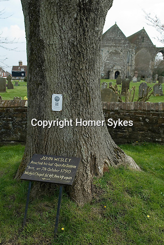 Winchelsea East Sussex Uk . John Welsley Preached his last Open Air Sermon here on 7th October 1790. Founder of the evangelical movement known as Methodism.