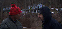 Jason Mitchell and Christopher Abbott <br /> Tyrel (2018) <br /> *Filmstill - Editorial Use Only*<br /> CAP/RFS<br /> Image supplied by Capital Pictures