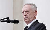 United States Secretary of Defense James Mattis speaks at  a wreath-laying ceremony at the Tomb of the Unknown Soldier at Arlington National Cemetery on Memorial Day , May 29, 2017 in Arlington, Virginia. <br /> Credit: Olivier Douliery / Pool via CNP