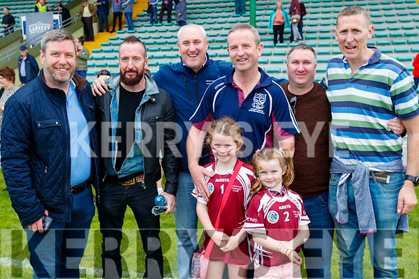 Pictured at the hurling final Causeway supporters l-r: Finbar Canty, Ray O'Connell, Eoin Barrett, Conor Harty, Eden and Drew Harty, Michael Quilter and Michael McEnery