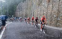 Francisco José Ventoso (ESP/CCC) leadig the peloton while racing in torrential rains up Il Piccolo Stelvio at <br /> Grande Trittico Lombardo 2020 (1.Pro/ITA)<br /> 1 day race from Legnano to Varese (200km)