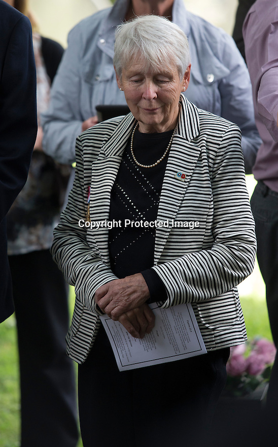 "11/06/16<br /> <br /> Dorris Innes, (niece).<br /> <br /> One hundred years have passed since Private Charles Gordon Shaw was fatally wounded in the Battle of the Somme, but today is the first day his family have been able to grieve at his graveside.<br /> <br /> Full Story: https://fstoppressblog.wordpress.com/private_charles_shaw/<br /> <br /> <br /> That's because his grave was ""lost"" during a changeover in church vicars and when the Commonwealth War Graves Commission tried to place a headstone on his plot in 1926, the new vicar was unable to tell them where the body was buried.<br /> <br /> But today, thanks to detective work by his  niece, 83-year-old Dorris Innes from Spondon, together with an amateur historian who located the 'lost' grave, Private Shaw's family were finally able to pay their respects to the war hero, with a commemorative service at his grave, exactly 100 years to the day since he was buried at Christ Church in Stonegravels, Chesterfield.<br /> <br /> All Rights Reserved, F Stop Press Ltd."