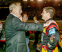 Humpy Wheeler, Jeff Burton, UAW-GM Quality 500, Charlotte Motor Speedway, Charlotte, NC, October 11, 2003.  (Photo by Brian Cleary/bcpix.com)
