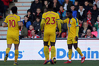 Jeffrey Schlupp of Crystal Palace is congratulated after scoring the first goal during Doncaster Rovers vs Crystal Palace, Emirates FA Cup Football at the Keepmoat Stadium on 17th February 2019
