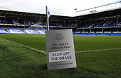 1st October 2017, Goodison Park, Liverpool, England; EPL Premier League Football, Everton versus Burnley;  A view of the Goodison Park pitch from the Sir Philip Carter Stand end of the stadium