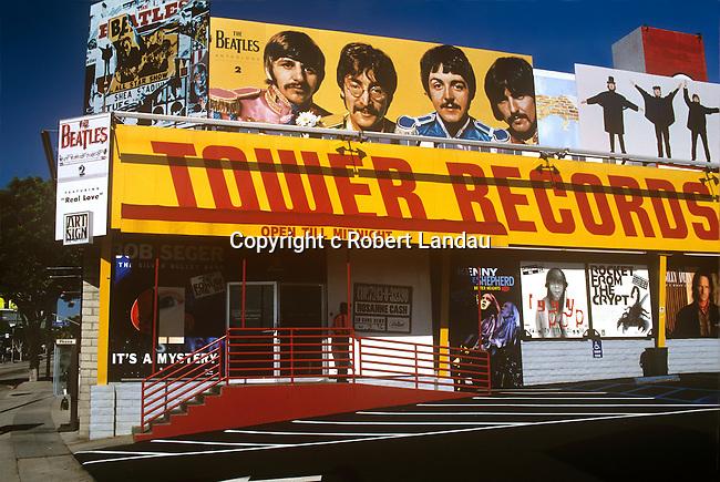 Tower Records on th esunset Strip circa 1996.