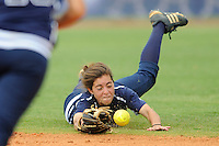 11 April 2009:  FIU's Kim Rodriguez (23) dives for a ball in the FIU 3-1 victory over Middle Tennessee State at University Park Stadium in Miami, Florida.