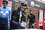 Spanish Champion Alejandro Valverde (ESP) Movistar Team at sign on before the start of the world's oldest classic the 100th edition of Milano-Torino running 179km from Magenta to the Basilica at Superga in Turin, Italy. 9th Octobre 2019. <br /> Picture: Marco Alpozzi/LaPresse | Cyclefile<br /> <br /> All photos usage must carry mandatory copyright credit (© Cyclefile | LaPresse/Marco Alpozzi)