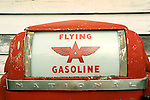 Super's Junkin Company. Old Flying Gasoline pump.