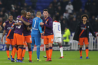 Manchester City's Fernandinho hugs Fabian Delph at the final whistle during Lyon vs Manchester City, UEFA Champions League Football at Groupama Stadium on 27th November 2018