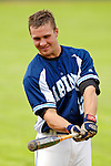 18 May 2006: Kevin McAvoy,  a University of Maine Freshman from Brewer, ME, takes some practice swings prior to a game against the University of Vermont Catamounts, at Historic Centennial Field, in Burlington, Vermont...Mandatory Photo Credit: Ed Wolfstein Photo..