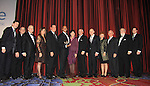 Linda Dano, Stephen Schnetzer, Rebecca Budig and husband Michael Benson, Sean Ringgold and his mom, Barbara Feldon (Get Smart), Danny Aiello, Tony Sirico (Paulie Walnuts - Sopranos), Rosanno Scotto and Mike Woods. Fox 5 weatherman Mike Woods is honored with the Linda Dano Heart Award on March 21, 2013 at the HeartShare 25th Annual Spring Gala and Auction at the New York Marriott, NYC, NY.  (Photo by Sue Coflin/Max Photos)