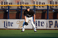Quad Cities River Bandits right fielder Carmen Benedetti (37) during a game against the Lake County Captains on May 6, 2017 at Modern Woodmen Park in Davenport, Iowa.  Lake County defeated Quad Cities 13-3.  (Mike Janes/Four Seam Images)
