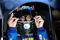 Jul. 17, 2010; Sonoma, CA, USA; NHRA funny car driver Ron Capps during qualifying for the Fram Autolite Nationals at Infineon Raceway. Mandatory Credit: Mark J. Rebilas-