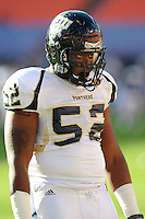 29 November 2008:  FIU defensive end Artis Warthen (52) prior to the FAU 57-50 overtime victory over FIU in the annual Shula Bowl at Dolphin Stadium in Miami, Florida.