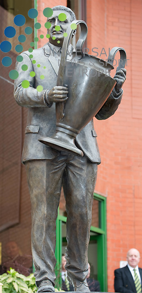 View of the new statue. Celtic Football Club unveil a statue commemorating Jock Stein on,5 March 2011, Picture: Al Goold/Universal News and Sport (Europe) 2011.