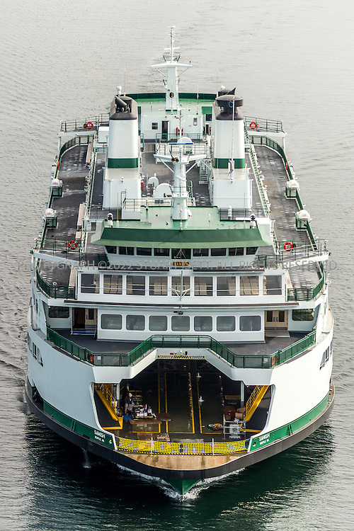 April 8th, 2015 &mdash; Seattle, WA<br /> <br /> The new ferry M/V Samish undergoing sea trials on April 8th, 2015 in Seattle, Washington. The Samish is the second Olympic Class, 144-car ferry, and will&nbsp;join the Anacortes/San Juan Islands route.<br /> <br /> Photograph by Stuart Isett/Vigor Industrial<br /> &copy;2014 Stuart Isett. All rights reserved.