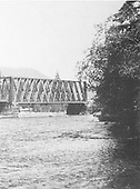 Wooden through-truss bridge over the Rio Grande Del Norte near South Fork, CO.  This may have been a D&amp;RG bridge.<br /> D&amp;RG  South Fork, CO