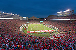 A general view of Camp Randall Stadium during the Wisconsin Badgers NCAA College Big Ten Conference football game against the Iowa Hawkeyes Saturday, November 11, 2017, in Madison, Wis. The Badgers won 38-14. (Photo by David Stluka)