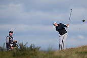 5th October 2017, The Old Course, St Andrews, Scotland; Alfred Dunhill Links Championship, first round; Oliver Fisher of England plays from the rough on the fifteenth hole during the first round on the Old Course, St Andrews at the Alfred Dunhill Links Championship