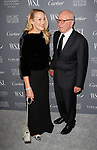 Rupert Murdoch - Executive Chairman of News Corporation and wife Jerry Hall arrive at the WSJ. Magazine 2017 Innovator Awards at The Museum of Modern Art in New York City, on November 1, 2017.