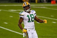 Green Bay Packers wide receiver Randall Cobb (18) during a National Football League game against the Chicago Bears on September 28, 2017 at Lambeau Field in Green Bay, Wisconsin. Green Bay defeated Chicago 35-14. (Brad Krause/Krause Sports Photography)
