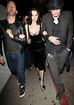 April 5th 2012 ..Dita Von Teese Black puff balls on her shoes net lace bra showing off cleavage walking after leaving Bar Marmont in Hollywood ..AbilityFilms@yahoo.com.805 427 3519 .www.AbilityFilms.com..