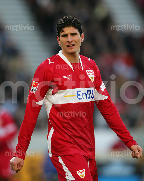 09.02.2008 Fussball Bundesliga 2007/08 VFB Stuttgart -  Hertha BSC Berlin Mario GOMEZ (VFB).