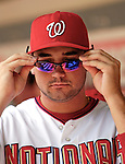 7 June 2007: Washington Nationals third baseman Ryan Zimmerman dons his shades prior to a sunny game against the Pittsburgh Pirates at RFK Stadium in Washington, DC. The Pirates defeated the Nationals 3-2 in the third game of their 3-game series...Mandatory Credit: Ed Wolfstein Photo