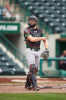 Great Lakes Loons catcher Brant Whiting (1) during the second game of a doubleheader against the Fort Wayne TinCaps on May 11, 2016 at Parkview Field in Fort Wayne, Indiana.  Great Lakes defeated Fort Wayne 5-0.  (Mike Janes/Four Seam Images)