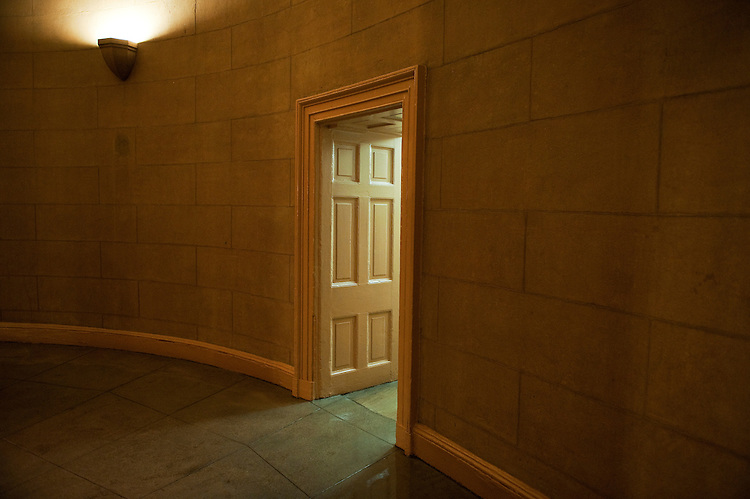 UNITED STATES - AUGUST 26:  A doorway on the first floor of the Capitol, senate side, is scene during the August Congressional recess.  (Photo By Tom Williams/Roll Call)