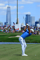 Dustin Johnson (USA) during the third round of the Northern Trust, played at Liberty National Golf Club, Jersey City, New Jersey, USA 10/08/2019<br /> Picture: Golffile | Michael Cohen<br /> <br /> All photo usage must carry mandatory copyright credit (© Golffile | Phil Inglis)