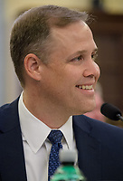 United States Representative James Bridenstine (Republican of Oklahoma), nominee for Administrator of the National Aeronautics and Space Administration (NASA), testifies at his confirmation hearing before the US Senate Committee on Commerce, Science, and Transportation on Wednesday, Nov. 1, 2017 in in Washington, DC.  <br /> Mandatory Credit: Joel Kowsky / NASA via CNP /MediaPunch