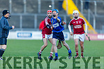 Tussle for possession between Causeway's Keith Carmody and Michael davis of St Brendans in the Division 1 County Hurling League final