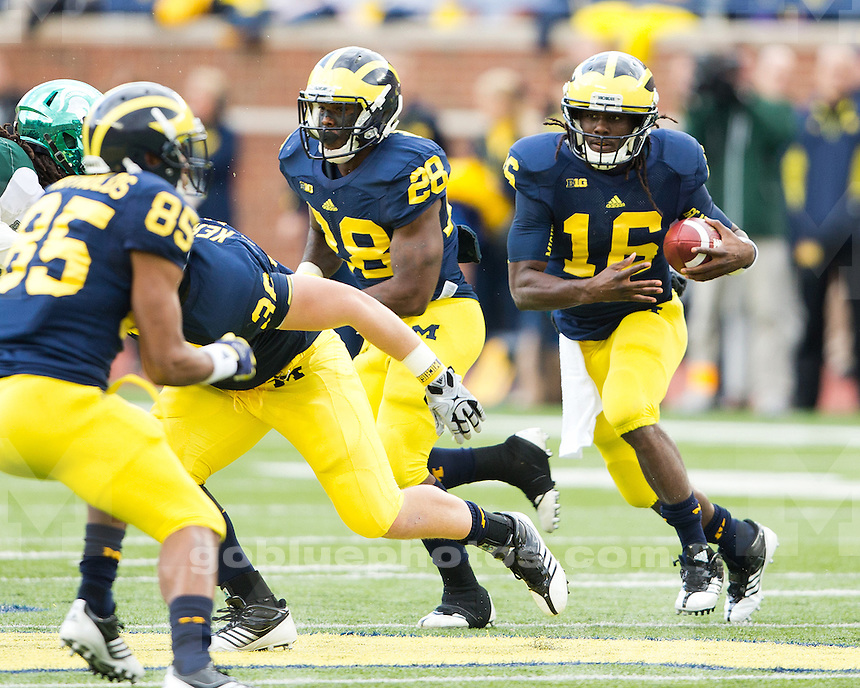 The University of Michigan Football team defeated Michigan State, 12-10, at Michigan Stadium in Ann Arbor, Mich., on October 20, 2012.