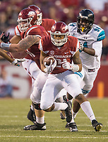 Hawgs Illustrated/BEN GOFF <br /> Devwah Whaley, Arkansas running back, carries in the fourth quarter Saturday, Nov. 4, 2017, at Reynolds Razorback Stadium in Fayetteville.