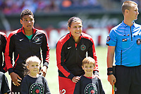 Portland, OR - Saturday July 15, 2017: Christine Sinclair during a regular season National Women's Soccer League (NWSL) match between the Portland Thorns FC and the North Carolina Courage at Providence Park.