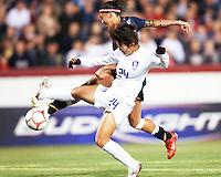 Natasha Kai (6) of USA battles with Cho So Hyun (24) of S.Korea during an international friendly match at City Stadium on November 1, 2008 in Richmond, Virginia.