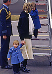 PRINCE HARRY_30 years on<br /> Prince Harry First Steps<br /> Diana, Princess of Wales clutches baby Prince Harry and by the hand as she helps Prince William when they arrive at Aberdeen Airport on their way to Balmoral in March 1986.<br /> Prince Harry celebrates his 30th birthday on the 15th of September 2014<br /> Mandatory Photo Credit: &copy;Dias/NEWSPIX INTERNATIONAL<br /> <br /> Mandatory credit photo:NEWSPIX INTERNATIONAL(Failure to credit will incur a surcharge of 100% of reproduction fees)<br /> <br /> **ALL FEES PAYABLE TO: &quot;NEWSPIX INTERNATIONAL&quot;**<br /> <br /> Newspix International, 31 Chinnery Hill, Bishop's Stortford, ENGLAND CM23 3PS<br /> Tel:+441279 324672<br /> Fax: +441279656877<br /> Mobile:  07775681153<br /> e-mail: info@newspixinternational.co.uk