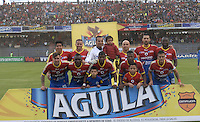 PASTO -COLOMBIA, 12-07-2015: Jugadores de Deportivo Pasto posan para una foto previo al encuentro entre Deportivo Pasto y Millonarios por la primera fecha de la Liga Águila II 2015 jugado en el estadio La Libertad de la ciudad de Pasto./ Players of Deportivo Pasto pose to a photo prior the match between Deportivo Pasto and Millonarios for the first date of the Aguila League II 2015 played at La Libertad stadium in Pasto city. Photo: VizzorImage / Gabriel Aponte / Staff